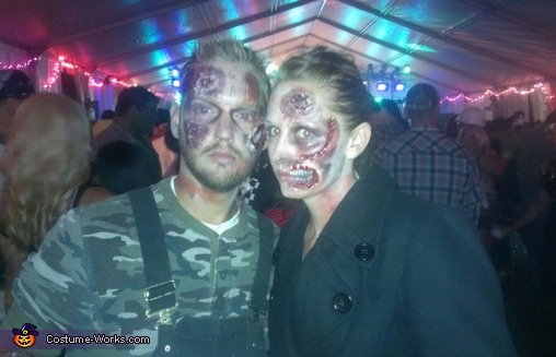 Zombie Death Match Couple's Costume