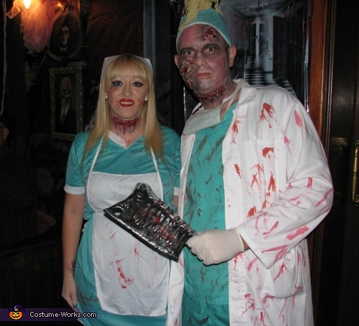 Zombie Doctor & Nurse Costume