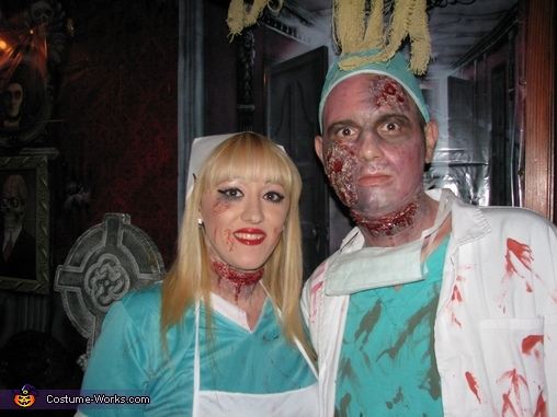 Another pic of the two of us :), Zombie Doctor & Nurse Costume