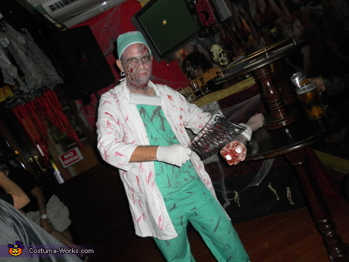 Lol.. Just having a good time at the Halloween Party :), Zombie Doctor & Nurse Costume