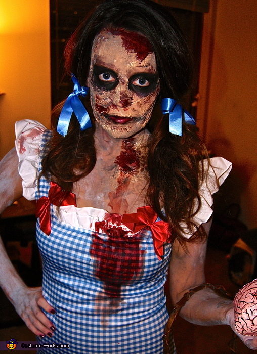 Zombie Dorothy and Scarecrow Costume