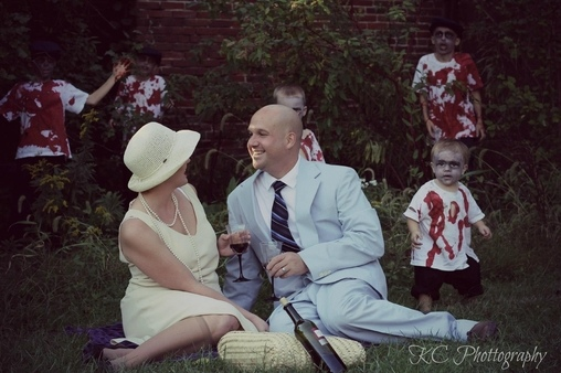Wait something is wrong here, Zombie Family Costume