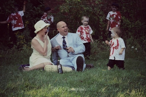 Oh my! , Zombie Family Costume