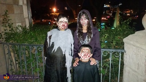 kids zombies, Zombie Family Costume