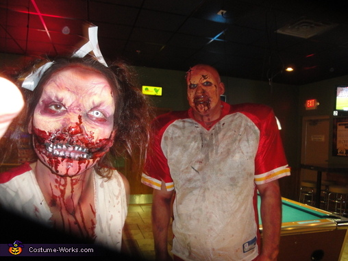 Zombie Football Player and Cheerleader Costume