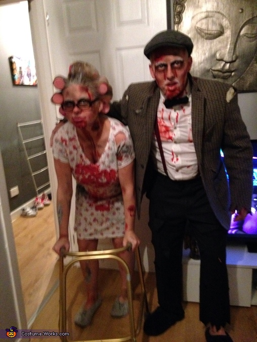 Zombie Gran and Grandad Costume