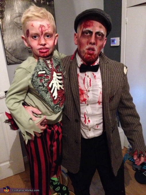 Zombie Gran and Grandad Couple Homemade Costume