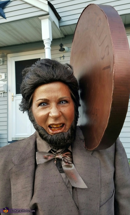zombie lincoln penny/front look, Zombie Lincoln Penney Costume