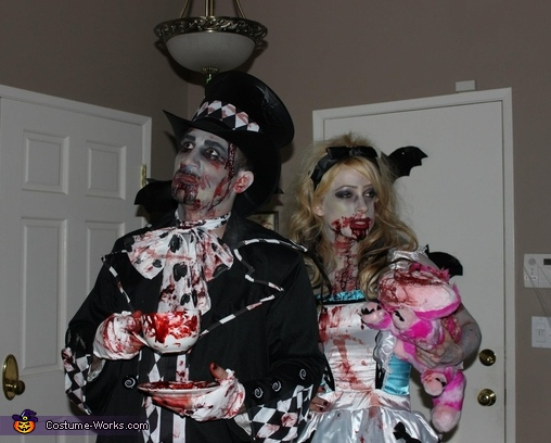 Zombie Mad Hatter and Alice Costume