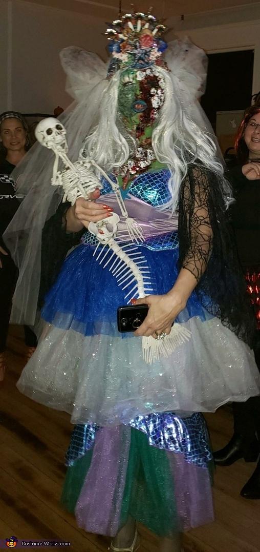 Zombie Mermaid Bride Costume