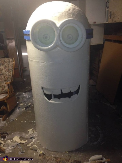 Eyes mouth and goggles, Zombie Minions Costume
