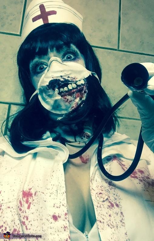 Scary Zombie Nurse Costume