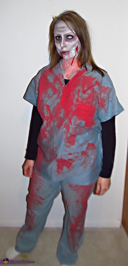 Zombie Nurse Halloween Costume Photo 3 6
