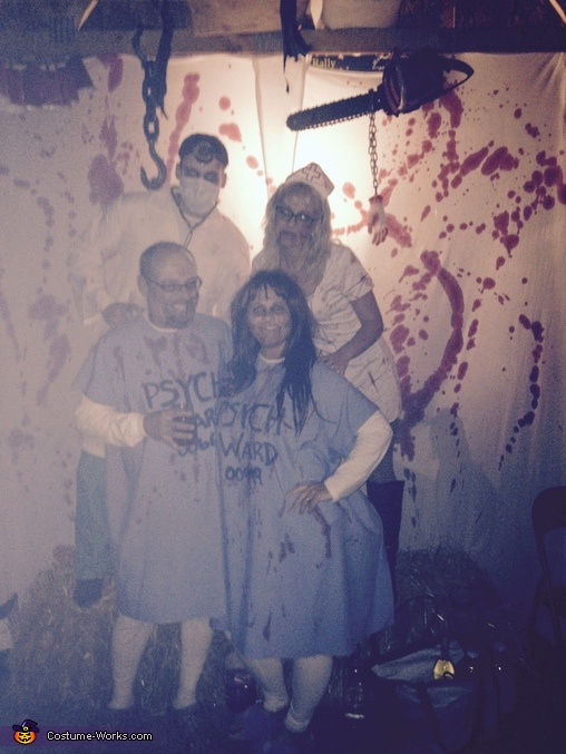 The four of us, Zombie Nurse and Doctor Costume