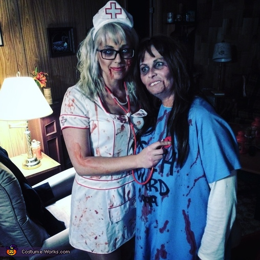 Myself & Sarah, Zombie Nurse and Doctor Costume