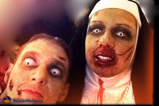 Zombie Priest and Nun Homemade Costume