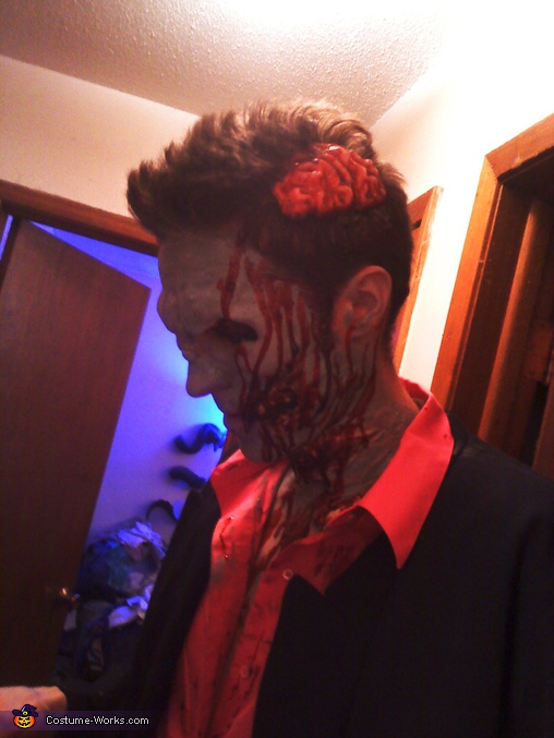 brandon's brains hanging out, Zombie Prom Dates Costume