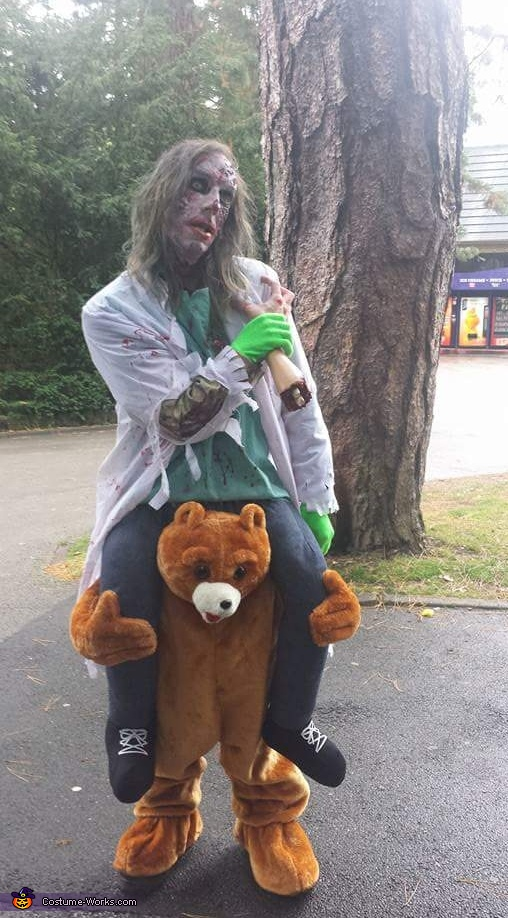 Zombie riding a Bear Costume