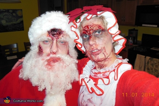 Zombie Santa and Mrs. Clause Homemade Costume