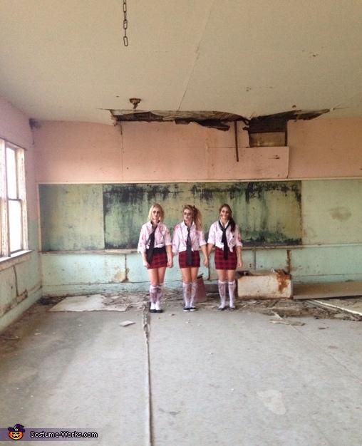 Zombie School Girls Homemade Costume