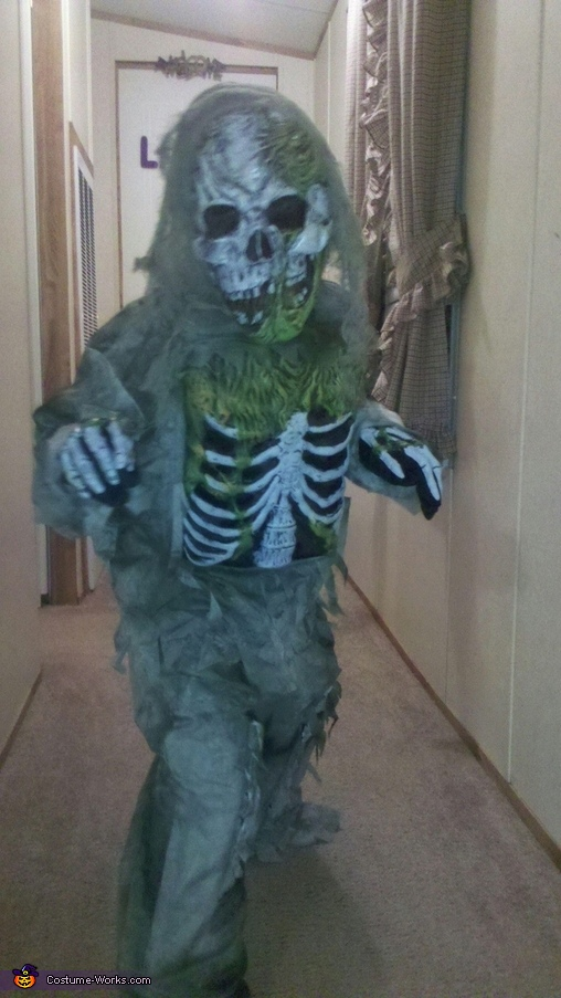 Zombie Skeleton Costume for Kids