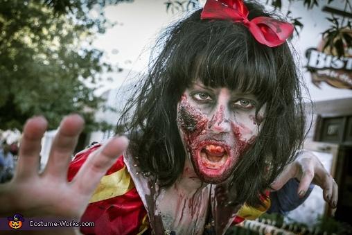 Zombie Snow White Homemade Costume