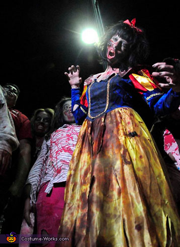 this was in the local news paper , Zombie Snow White Costume