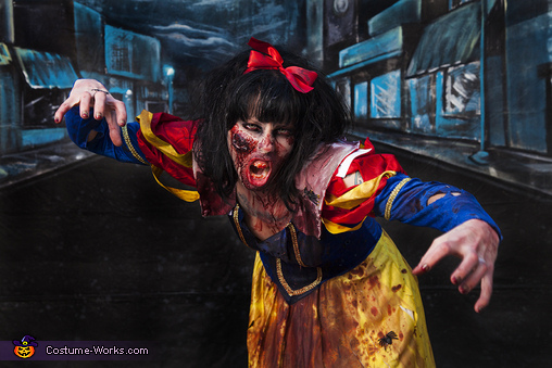 Zombie Snow White Homemade Costume