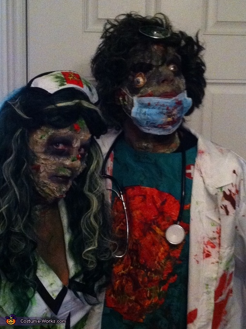 Zombie Surgeon & Nurse Costumes