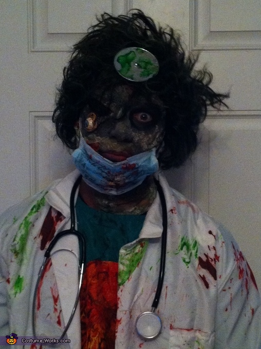 Homemade Zombie Surgeon & Nurse Costumes