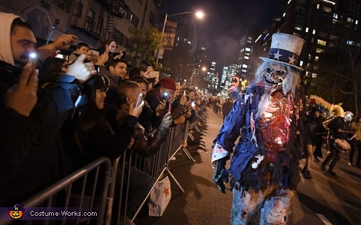 Zombie Uncle Sam Homemade Costume