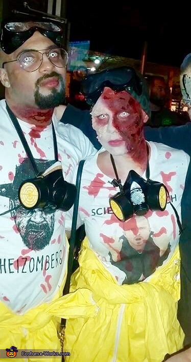 Zombie Walter White and Jesse Pinkman Homemade Costume