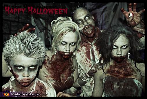 Happy Halloween, Zombie Wedding Family Costume