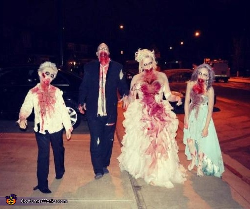 Zombie Wedding Family Halloween Costume Ideas