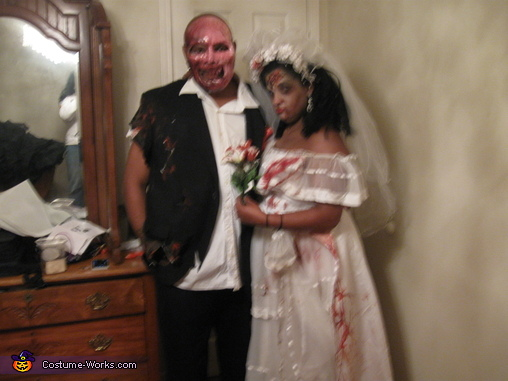 life after a apocalypse, Zombie Wedding Party Costume