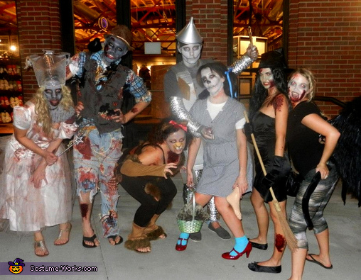 Zombie Wizard of Oz, Zombie Wizard of Oz Group Costumes