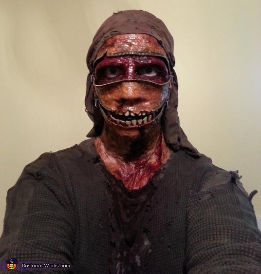 Homemade Zombie Zipper Costume