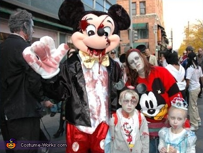 Disney Characters Zombie Costumes