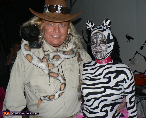 Zebra and Zoo Keeper Costume