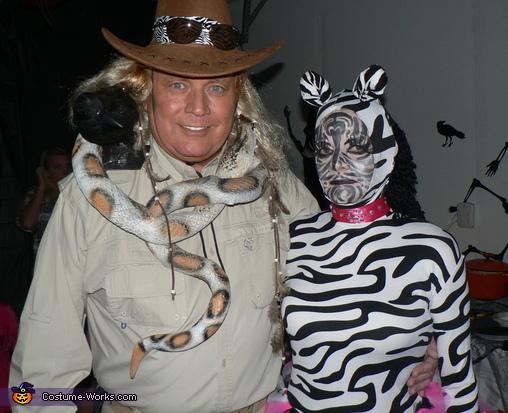Zebra and Zoo Keeper Costume
