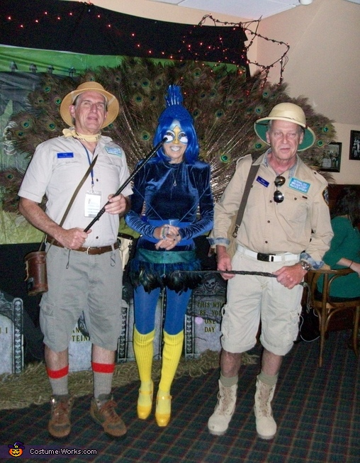 Zoo Keepers with Peacock Costume