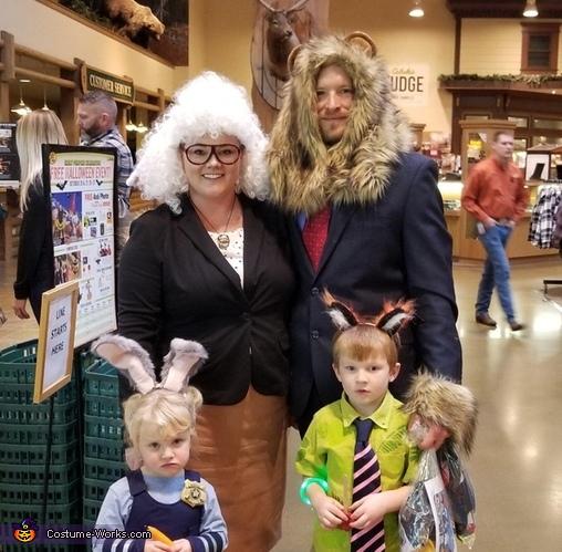 Zootopia Movie Family Costume