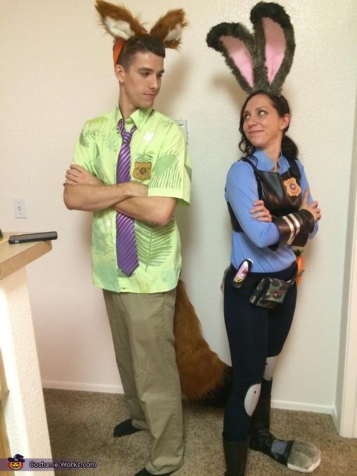 Zootopia Nick and Judy Hopps Homemade Costume