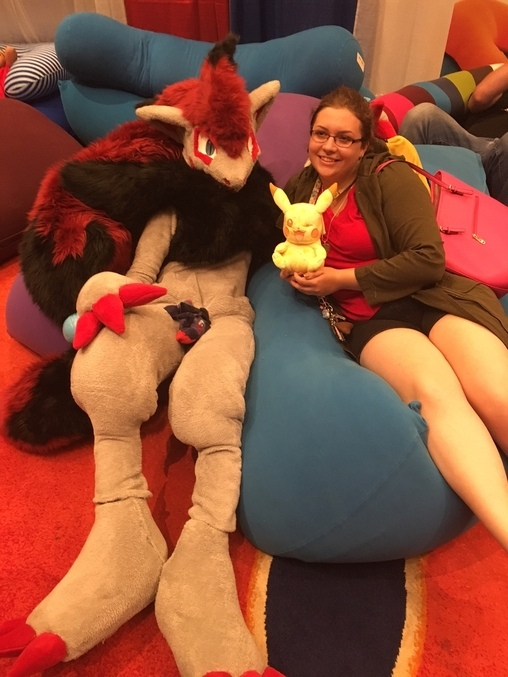 Me and a friend at comic con!, Zoroark Costume
