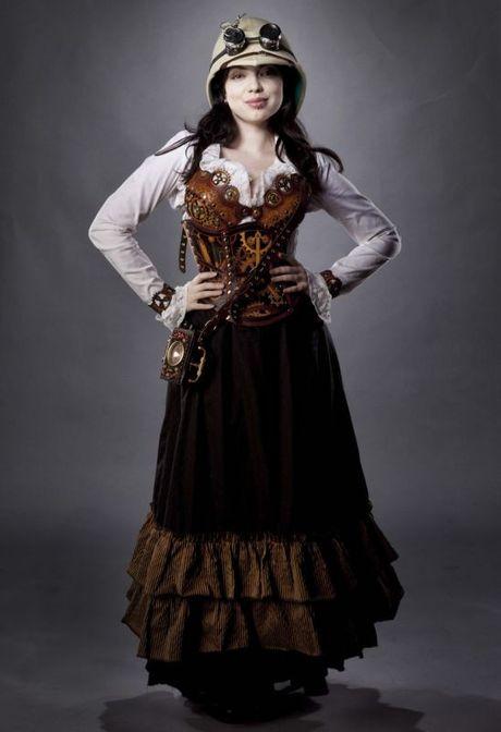 Brand New Steampunk Fashion Girl Tween Costume