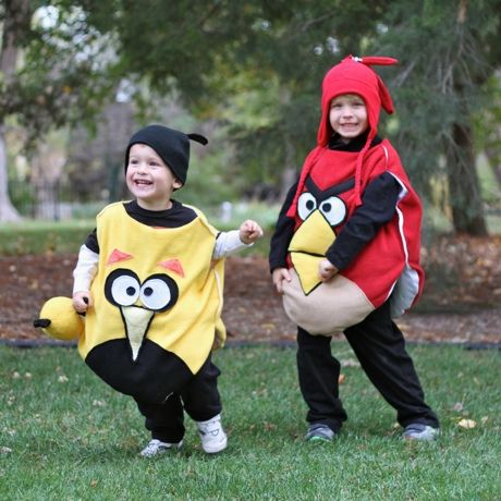 DIY Angry Bird Costumes {tutorial}