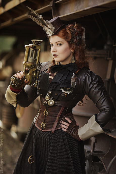Via Ste&unk Chronicle. Huntress of Steammonsters  sc 1 st  Costume Works & 30 Creative Steampunk Costume Ideas