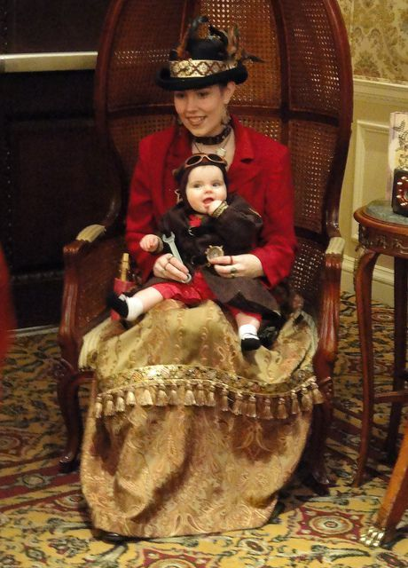 Steampunk Baby and Mom