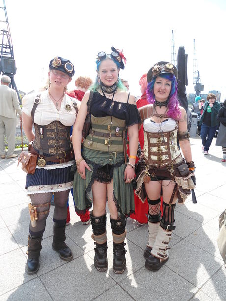 Steampunk Ladies from Steampunk MCM Expo 2013