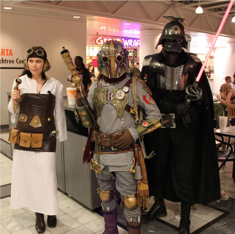 Steampunk Star Wars group costume